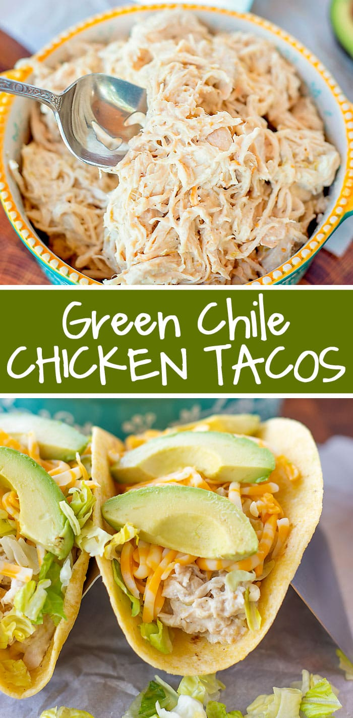 Green Chile Chicken Tacos