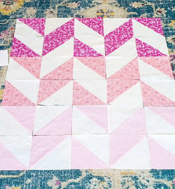 easy herringbone quilt tutorial
