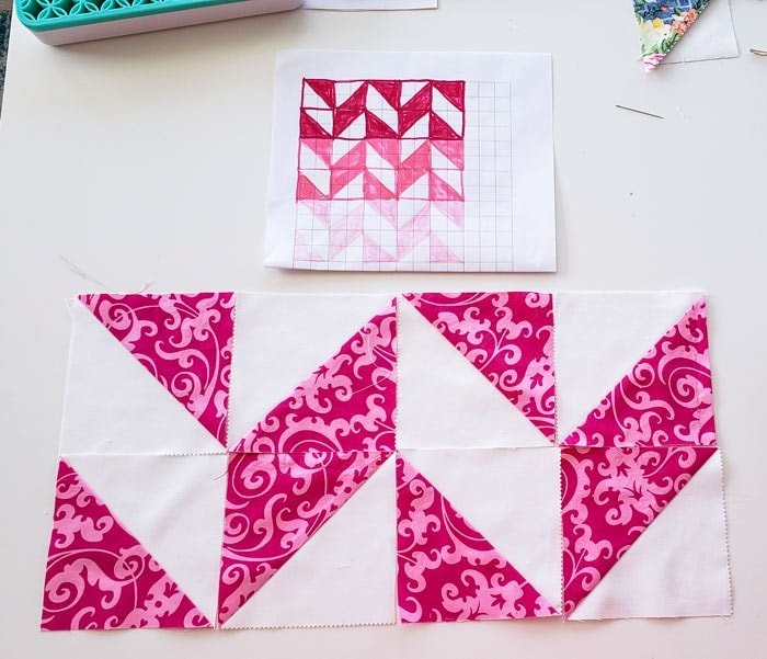 how to make a herringbone quilt