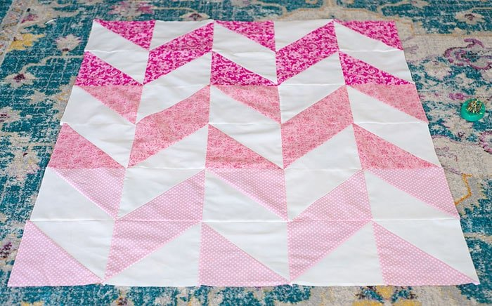 herringbone quilt pattern for beginners