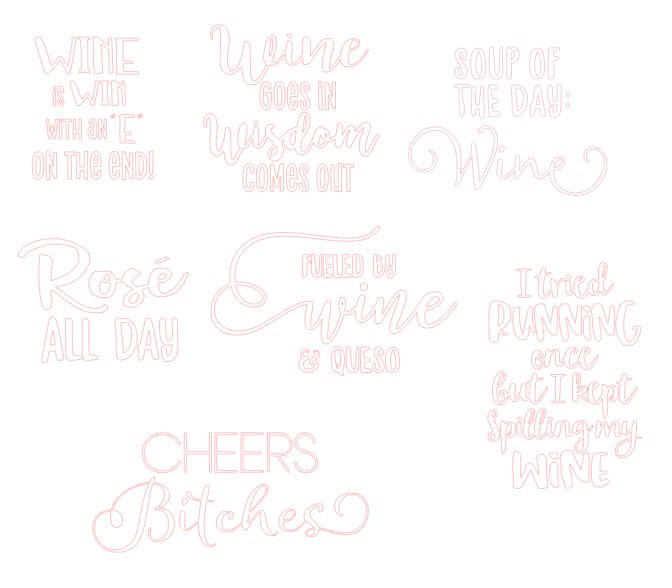 free wine sayings svg files