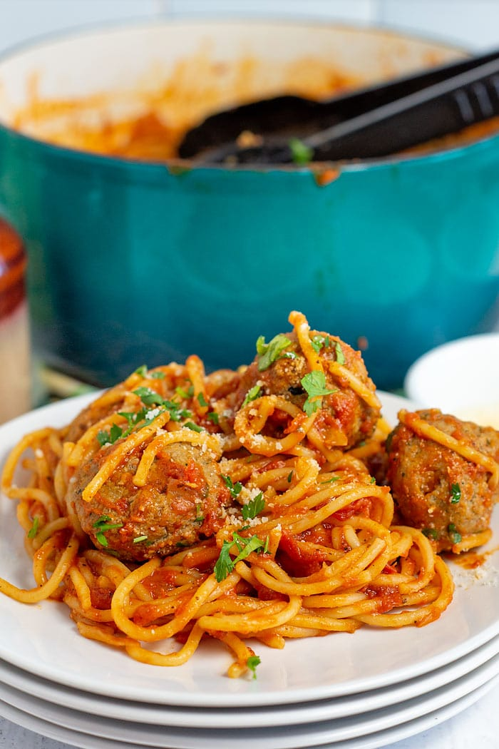 25 minute one pot spaghetti and meatballs
