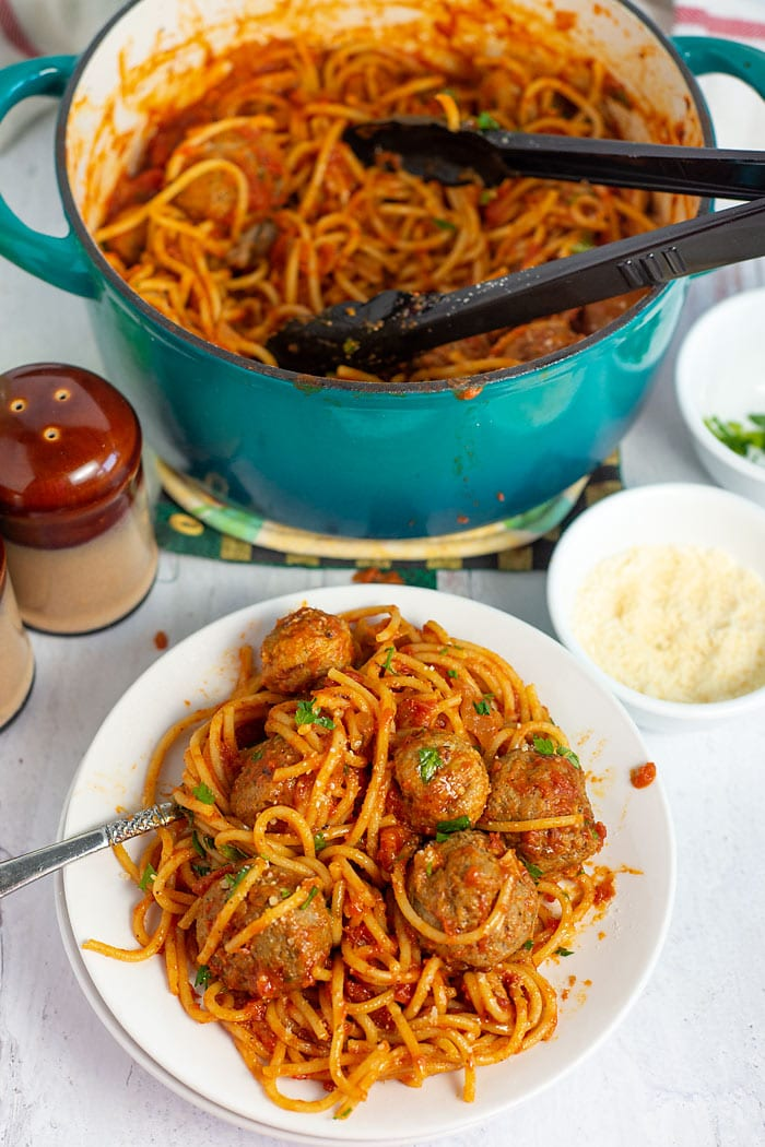 shortcut spaghetti and meatballs