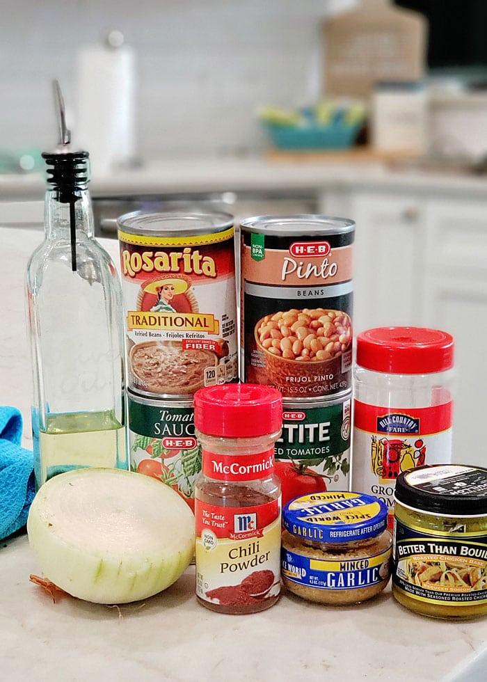 meatless bean chili ingredients