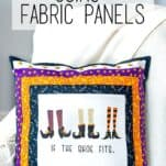 pillows from fabric panels
