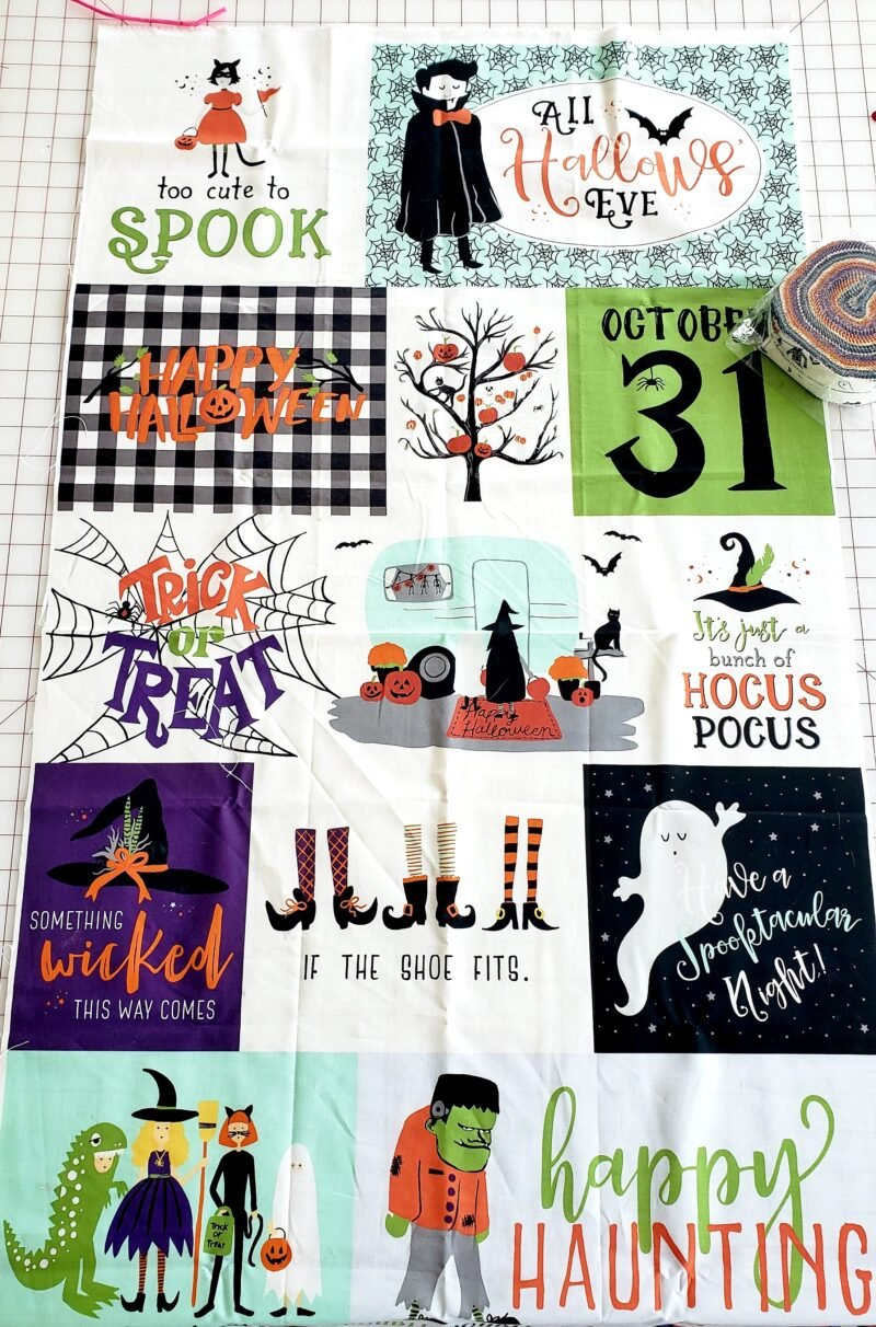 halloween fabric panel