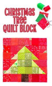 Christmas Tree Quilt Block Tutorial