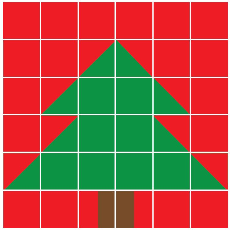 christmas tree quilt block template