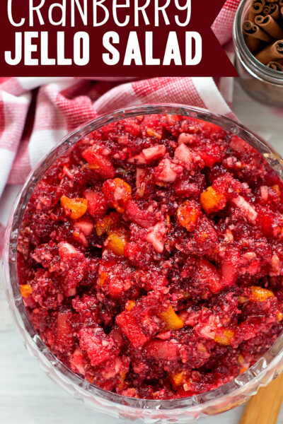 Cranberry Jello Salad - pinterest image