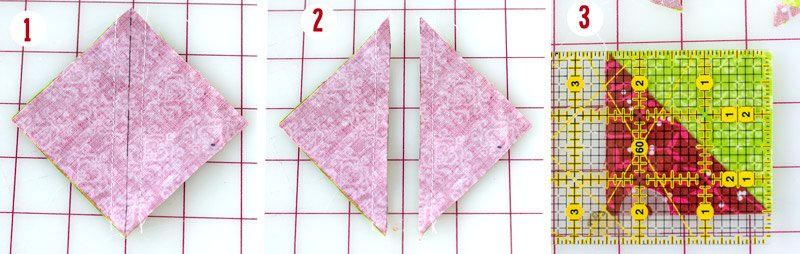 half square quilt triangle