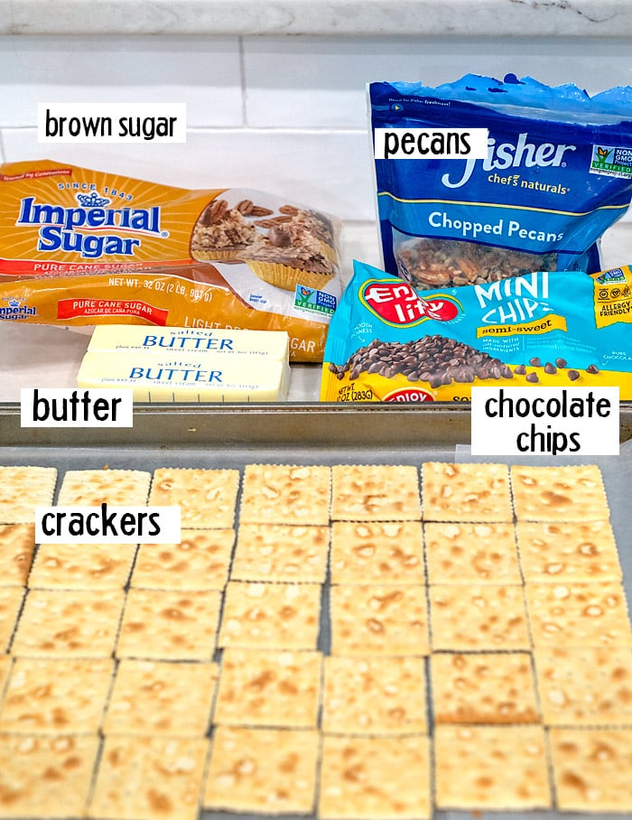 ingredients in saltine cracker toffee