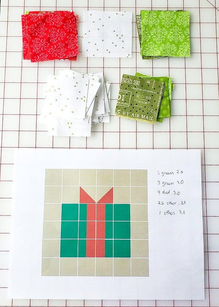 Make a Christmas Gift quilt block
