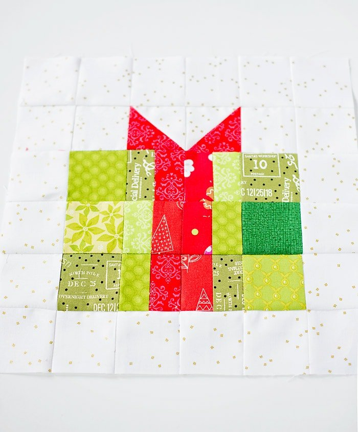 Free Christmas Gift Quilt Block