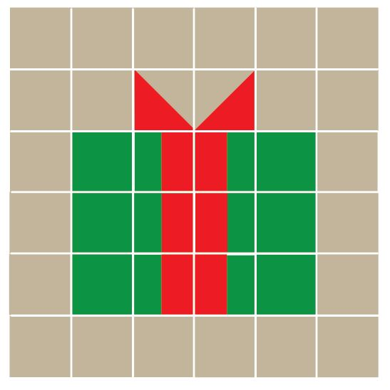 christmas gift quilt block template