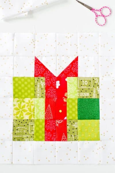 christmas gift quilt block pattern