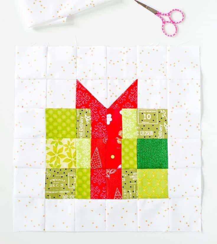 christmas gift quilt block pattern
