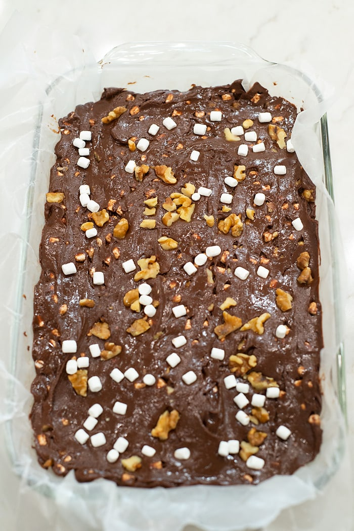 how to make rocky road fudge in the microwave