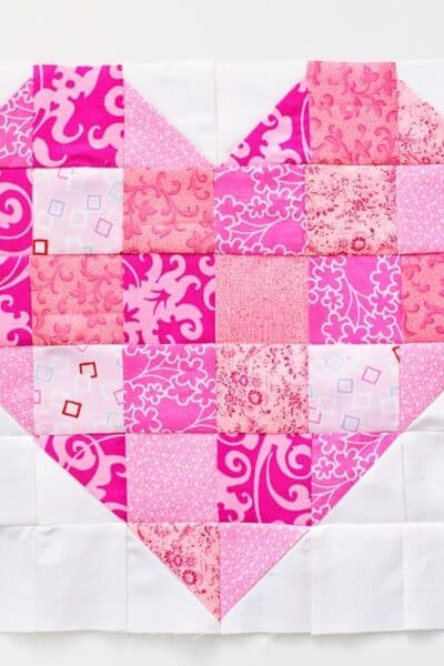 heart quilt block pattern