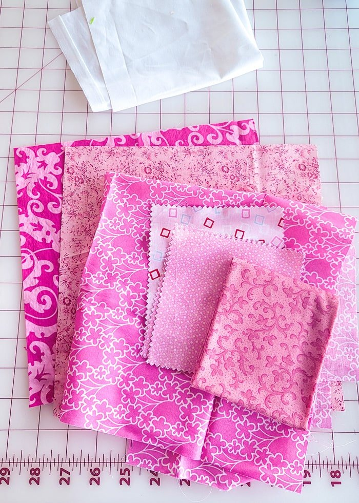 heart quilt block materials
