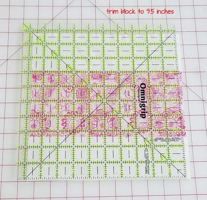 trimming quilt blocks