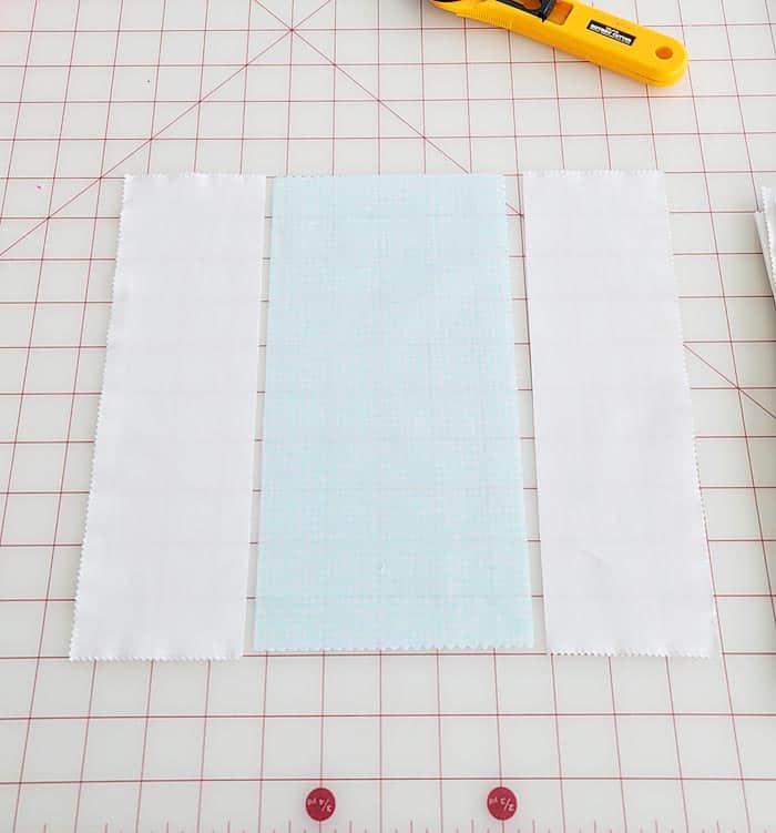 Simple Basket weave quilt block assembly