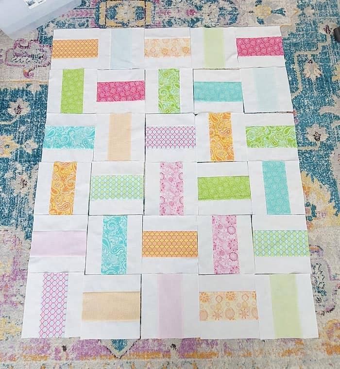 assembling the quilt top