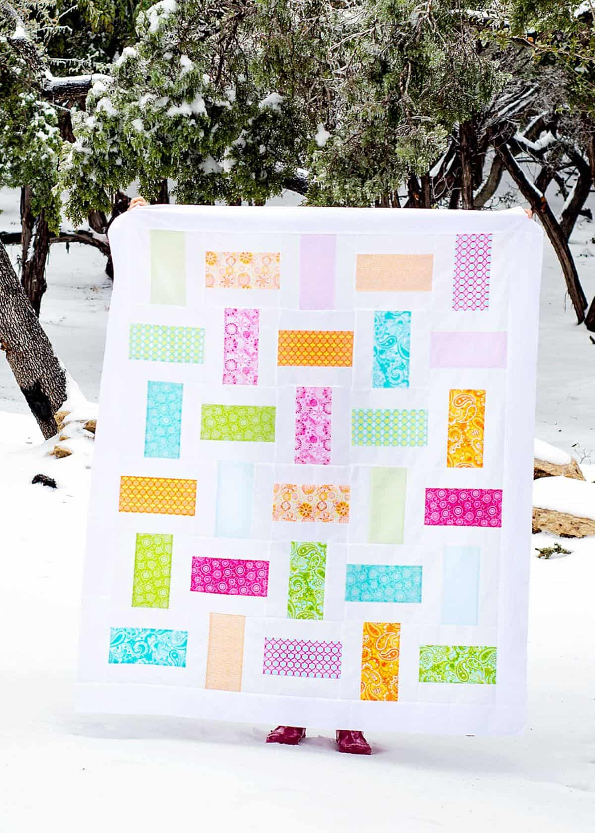 Simple Basket Weave Quilt Pattern (w/ a layer cake)