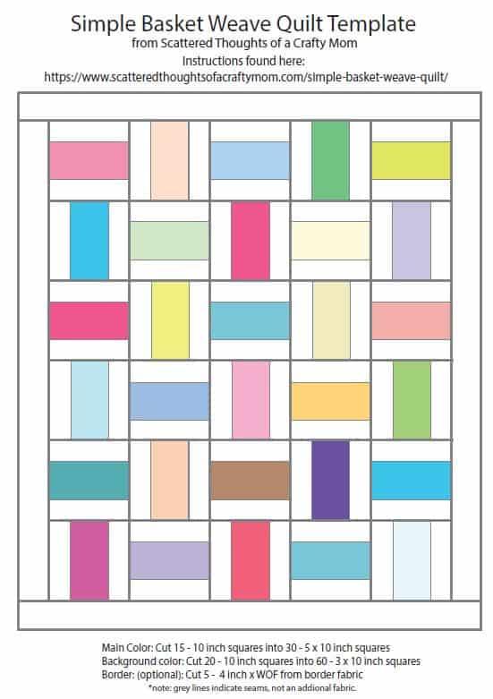 Free Basket Weave Quilt Pattern