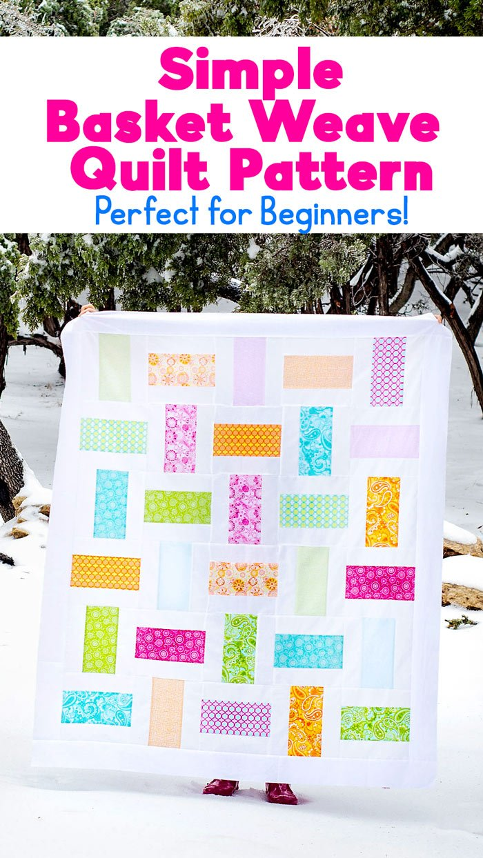 easy basket weave quilt pattern