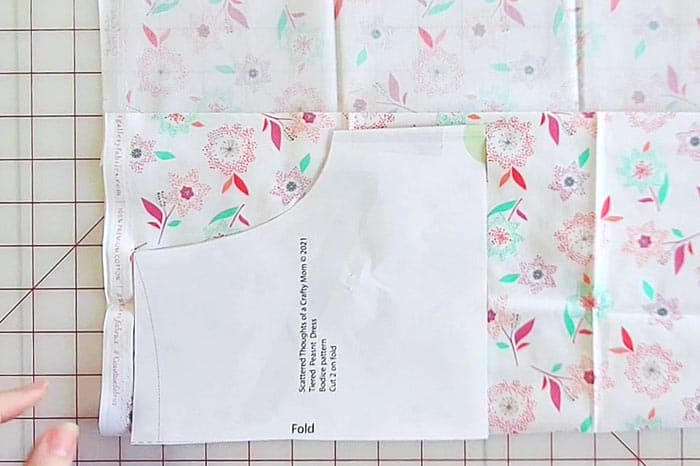 cutting bodice for tiered dress pattern