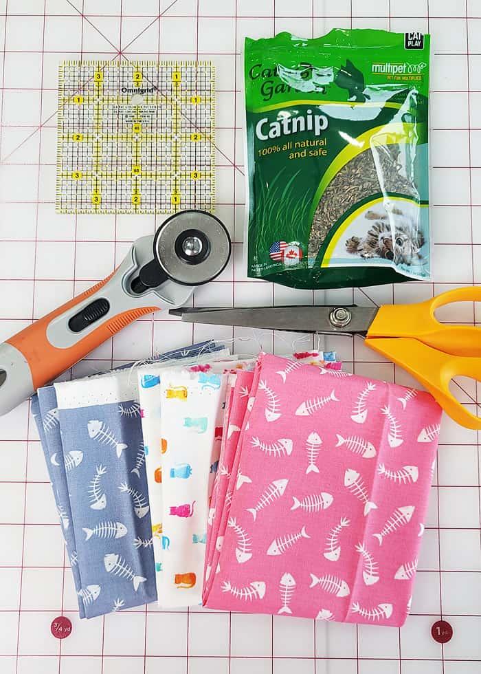 supplies to make a catnip toy