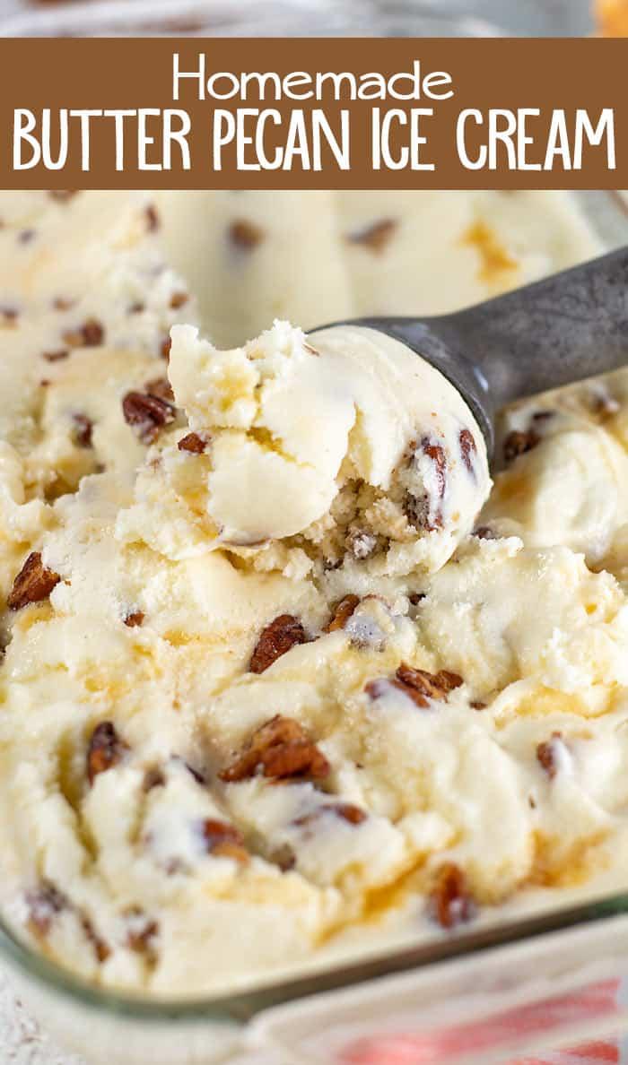 Homemade Buttered Pecan Ice Cream Recipe