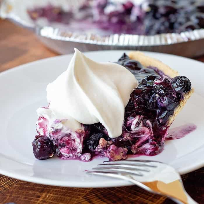 blueberry pie square