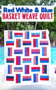 Free Pattern: Red White and Blue Basket Weave Quilt