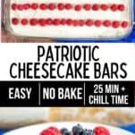 patriotic no bake cheesecake bars