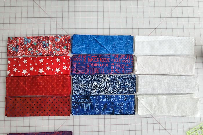 red white and blue quilt