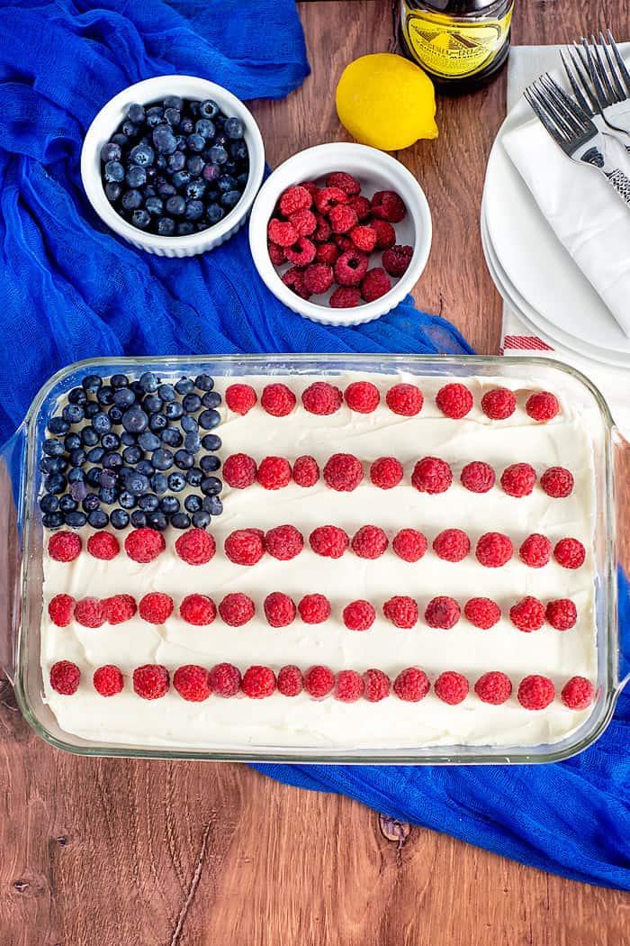 patriotic no bake cheesecake