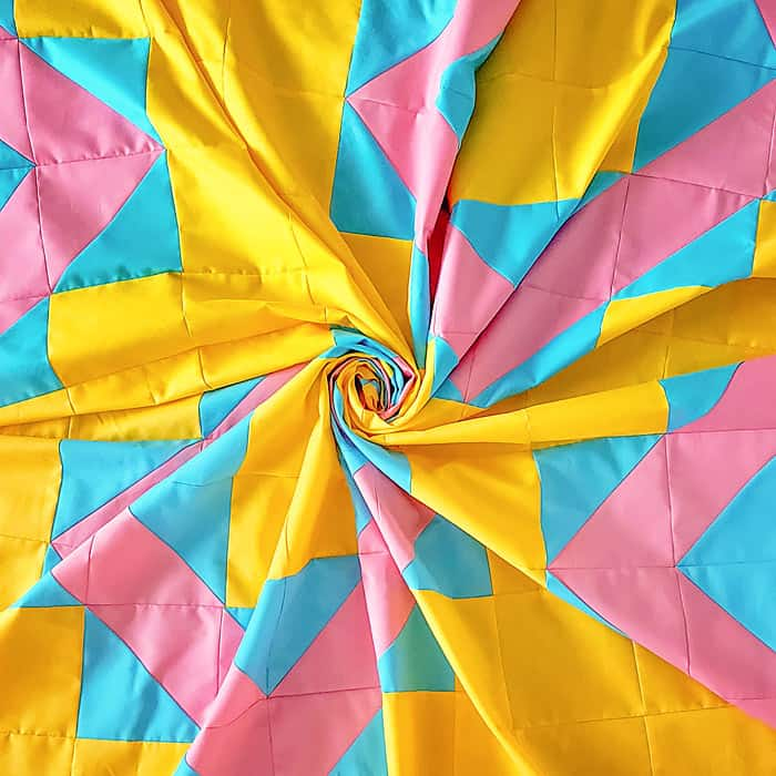 summer vibes free quilt pattern colors
