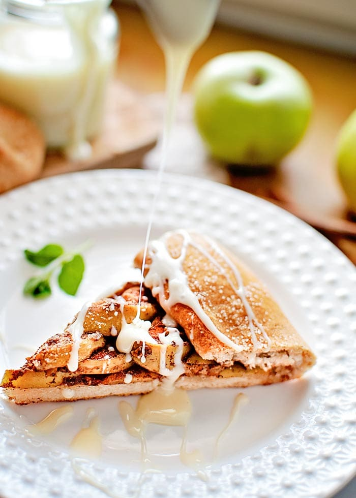apple galette on a plate