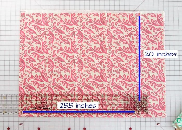how much fabric is needed to make a pillowcase