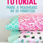 how to make a pillowcase free pattern