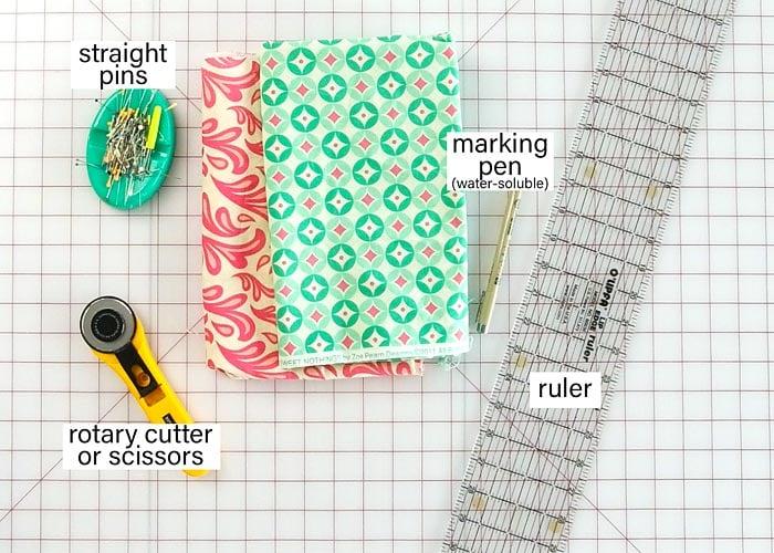 materials needed tp make a pillowcase