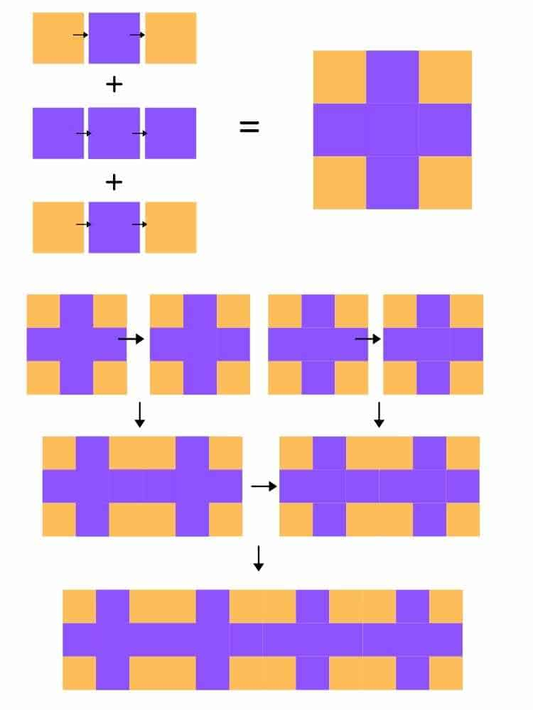 plusses in a row quilt instructions