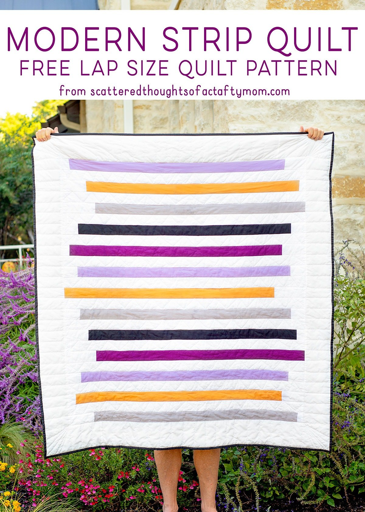 Modern Strip Quilt – Free Quilt Pattern and Tutorial