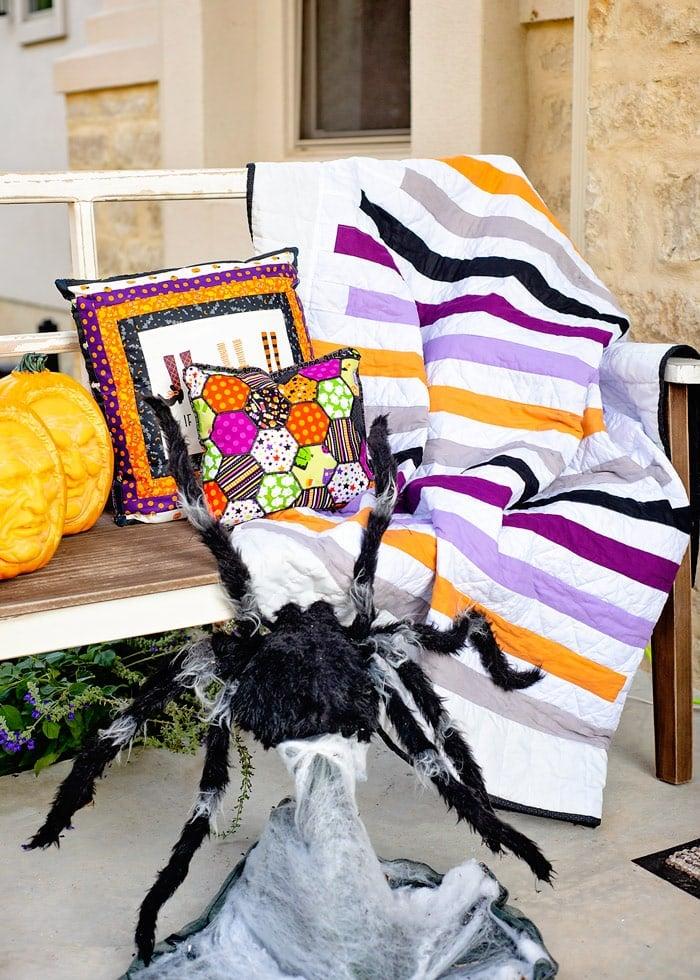 easy halloween quilt