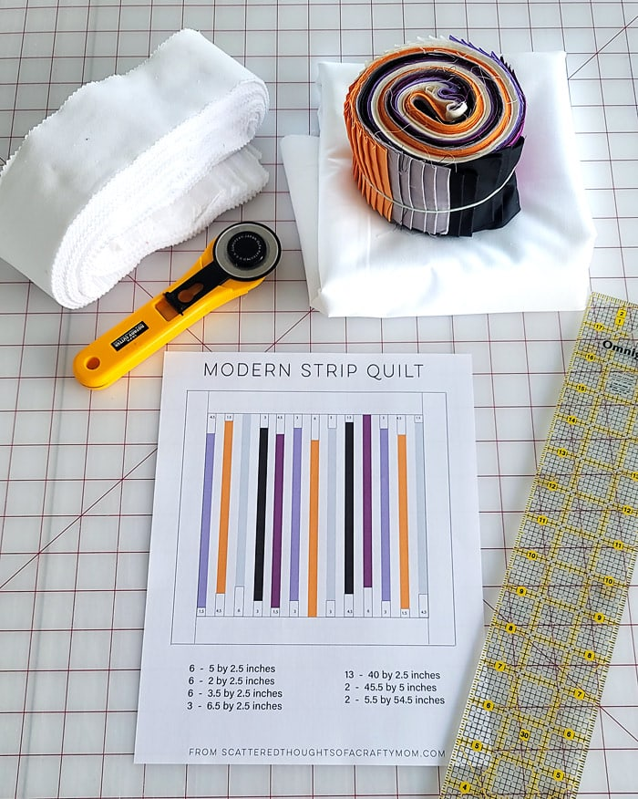 fabric needed to make a strip quilt